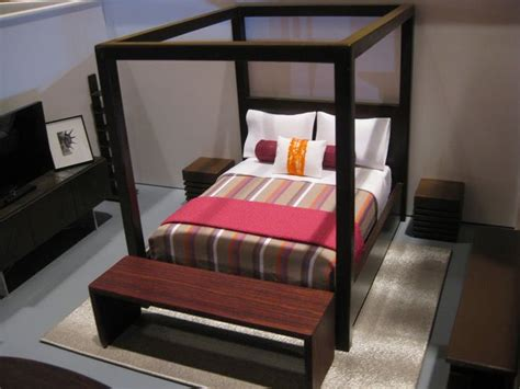 Dollhouse Bedroom Furniture by Miniature Modern Bedroom Furniture Dollhouse