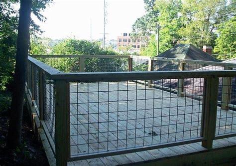 hog wire deck railing wire deck railing  balcony