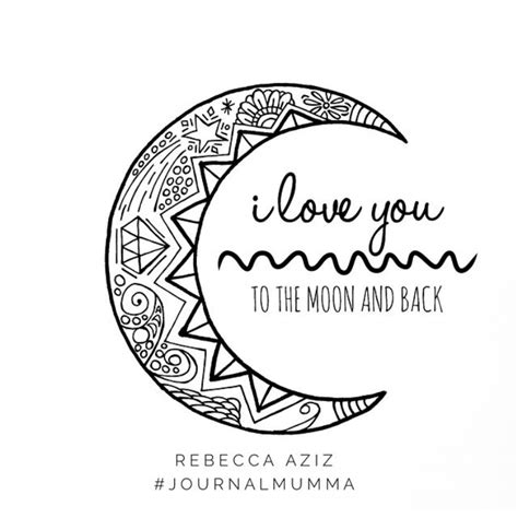 I You To The Moon And Back Kleurplaat by I You To The Moon And Back Colouring