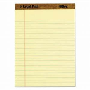Tops letter size legal pads top7532 ebay for Letter size legal pads