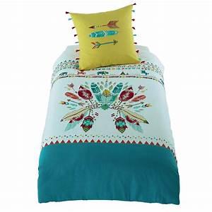 Lit Maison Enfant : parure de lit enfant en coton multicolore 140 x 200 cm ~ Farleysfitness.com Idées de Décoration