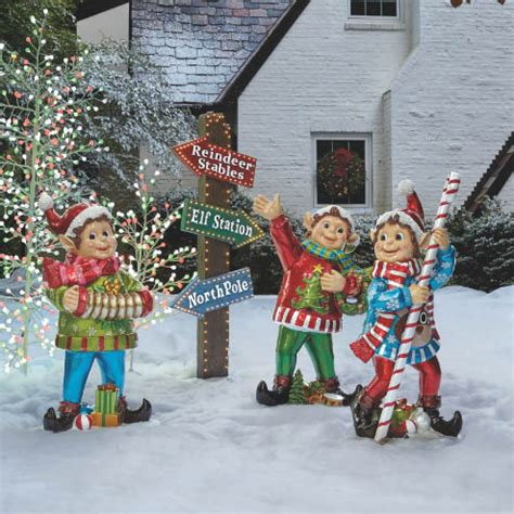 elf outdoor christmas decorations billingsblessingbagsorg