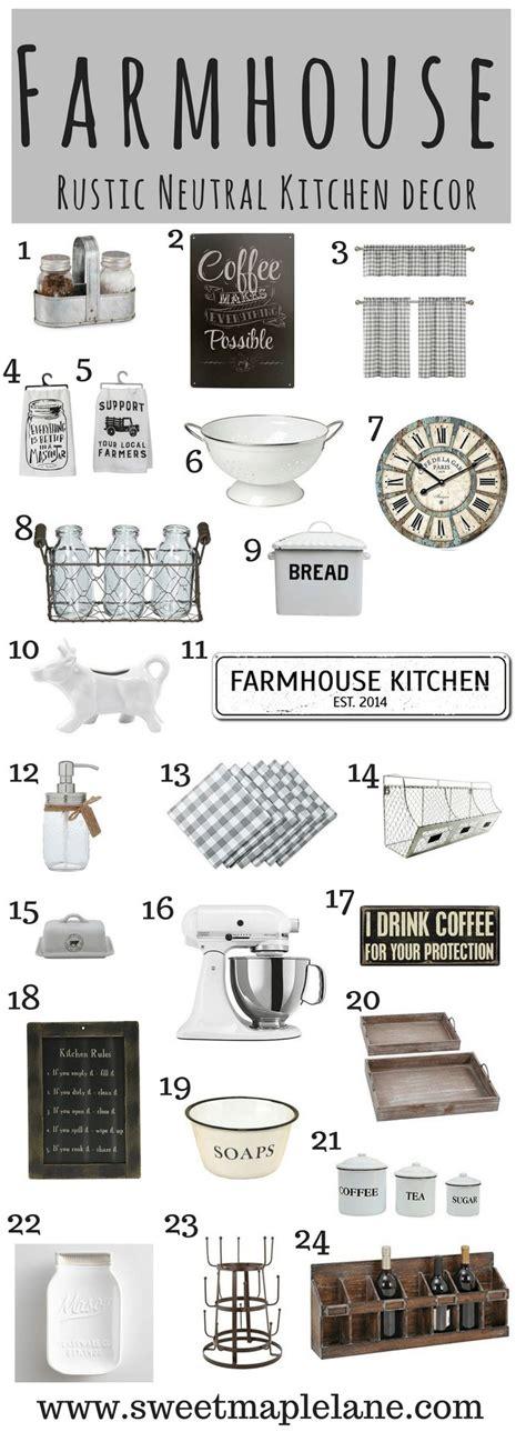 list of kitchen accessories 25 best farmhouse kitchen decor ideas on 7131