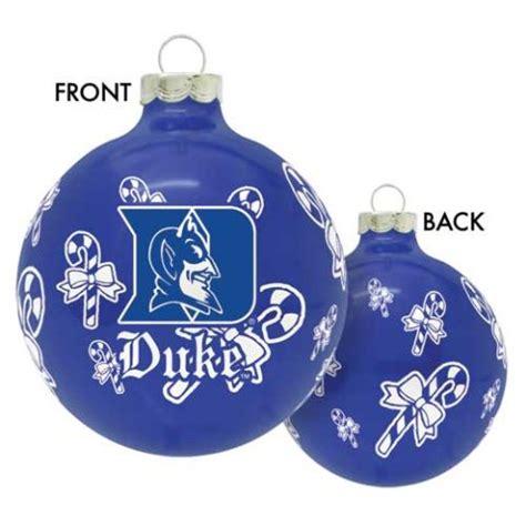 duke university ncaa glass christmas ornament ebay