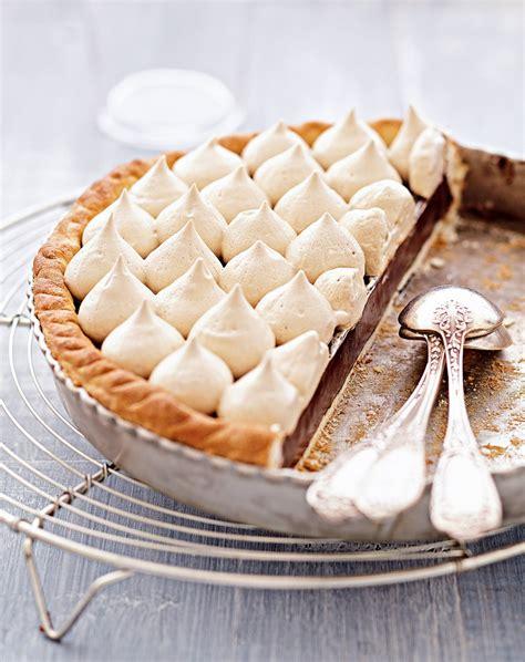 recettes cuisine et vins de recette tarte au chocolat meringue au café