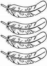 Feathers Coloring Pages sketch template