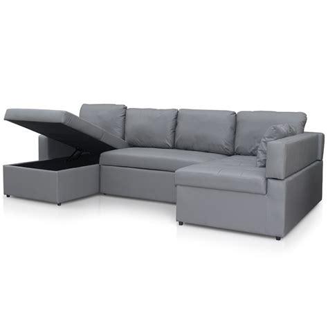 canap simili cuir gris canapé d 39 angle convertible simili gris lio