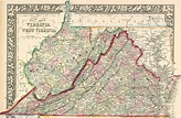 Map of virginia and west virginia together and travel ...