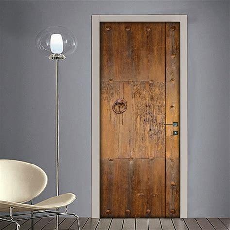 porte etniche adesivo per porta portone antico in legno