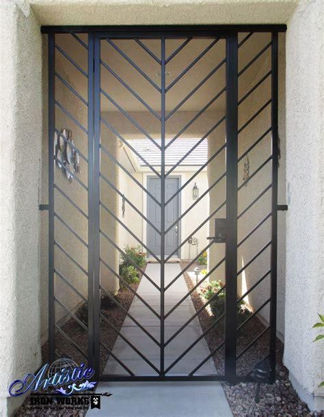 Modern Style Wrought Iron Entryway  Model Ew0520. Sliding Door Installation. Vertical Garage Door. Double Barn Door. Door Monitor. Garage Decorative Hardware. California Closets Garage. Metal Garage Buildings. Electric Door
