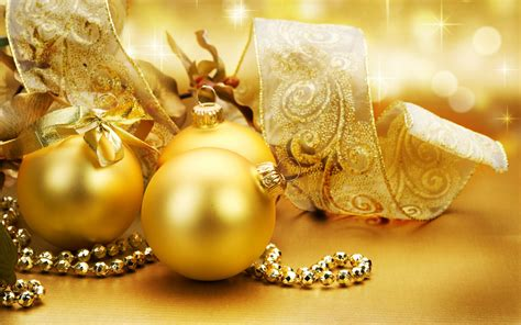 golden christmas ornaments christmas wallpaper 22229806