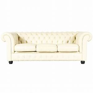 Vintage beige leather chesterfield sofa for sale at 1stdibs for Beige leather sectional sofa sale
