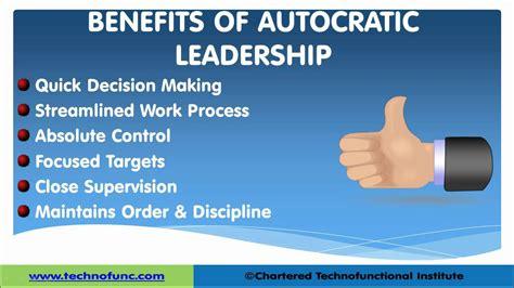 autocratic leadership leadership skills youtube