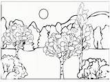Coloring Road Dirt Designlooter Forest sketch template