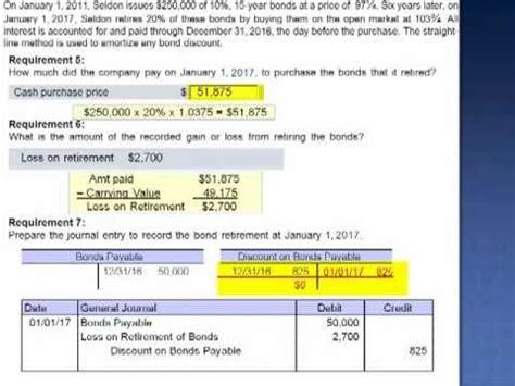 Amount of Discount on Bond Exercise 14-11 - YouTube
