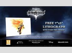 Kingdom Hearts HD 25 ReMIX lithograph preorder bonus