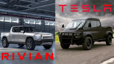 Rivian R1t Electric Truck Compared To Tesla Pickup Truck