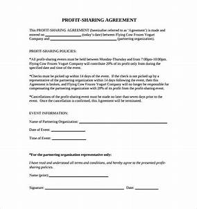 14 profit sharing agreement templates sample templates for Profit sharing contract template