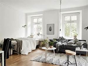 Kleine Wohnung Einrichten Ideen : 1 zimmer wohnung einrichten im skandinavischen stil room ~ Lizthompson.info Haus und Dekorationen