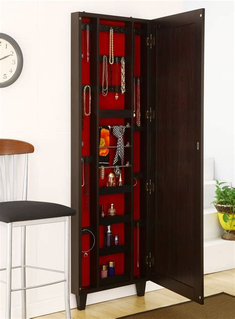 Wall Mount Jewelry Cabinet by Best Hanging Jewelry Armoire Homesfeed