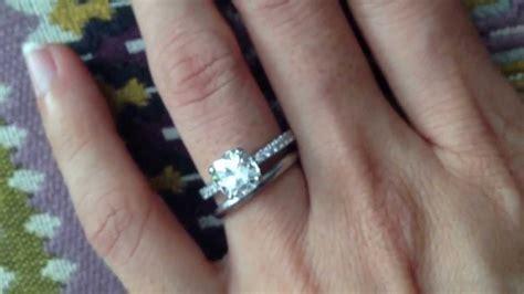 tiffany novo ring  plain wedding band youtube