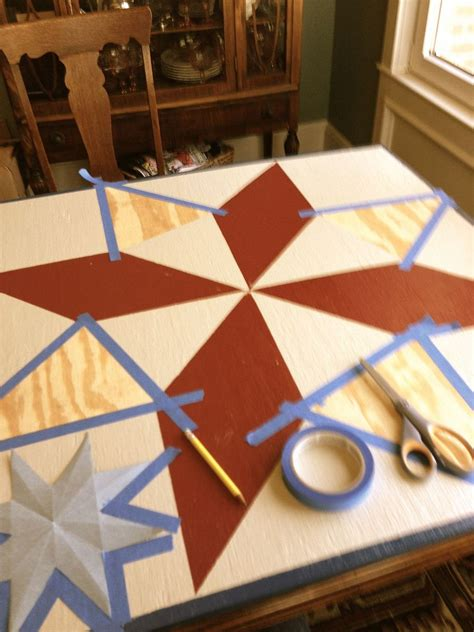 Painted Barn Quilts by Hometalk Painting A Barn Quilt For Your Garden Shed