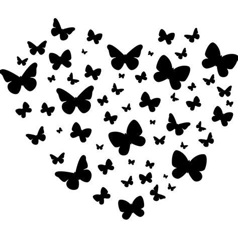 cuisine blanc et noir stickers coeur papillons pas cher