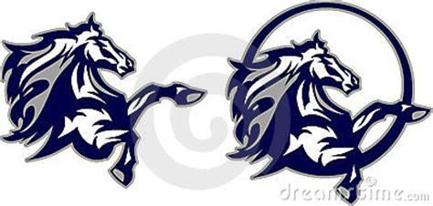 horse mustang bronco mascot logo stock photo image