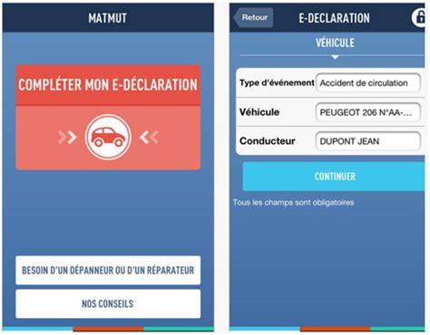 matmut si鑒e e dclaration matmut une application pour dclarer sinistre auto moto depuis smartphone