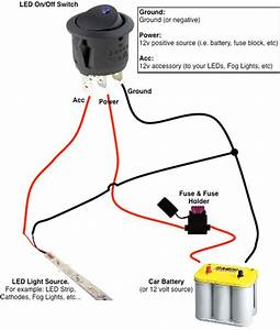 12 Volt Lighted Switch Wiring Diagram