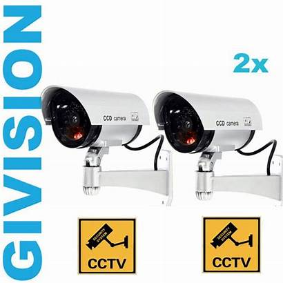 Fake Camera Security Dummy Flashing Outdoor Surveillance