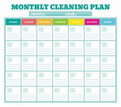 Cleaning Printable Monthly Checklist Plan Schedule Weekly