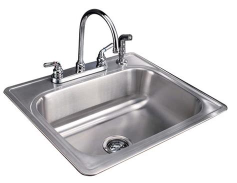 tuscany  single bowl stainless steel kitchen sink kit