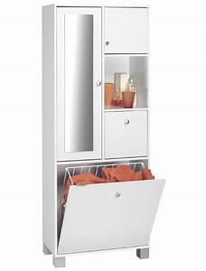 Porte Meuble Salle De Bain : colonne 2 portes 1 tiroir 1 abattant bikini blanc ~ Teatrodelosmanantiales.com Idées de Décoration