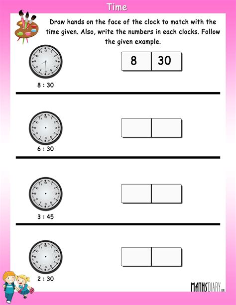 time grade 1 math worksheets page 2