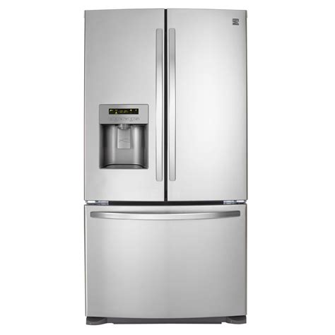 stainless steel door refrigerator kenmore 70323 24 1 cu ft door bottom freezer