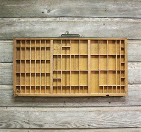 Printers Type Cabinet by Vintage Printers Tray Wooden Type Set Drawer Or By Auroramills
