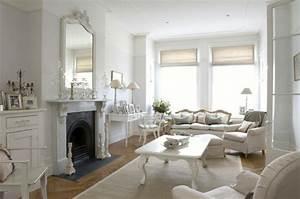 Kamin Englischer Stil : shabby chic wohnzimmer 66 romantische einrichtungen ~ Whattoseeinmadrid.com Haus und Dekorationen