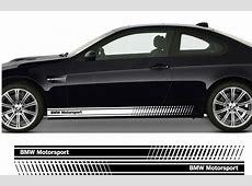 BMW Motorsport Premium Side Stripes Stickers Decals Series