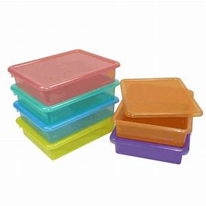 letter size colored plastic storage containers clear With letter storage bin