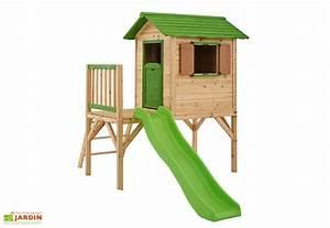 Maison Jardin Pour Enfant : maison enfant bois mila sur pilotis maisonnette bois ~ Premium-room.com Idées de Décoration