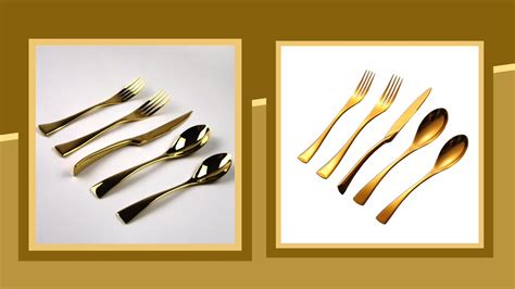 brands flatware cutlery stainless steel tableware rainbow sets settings hotel easy