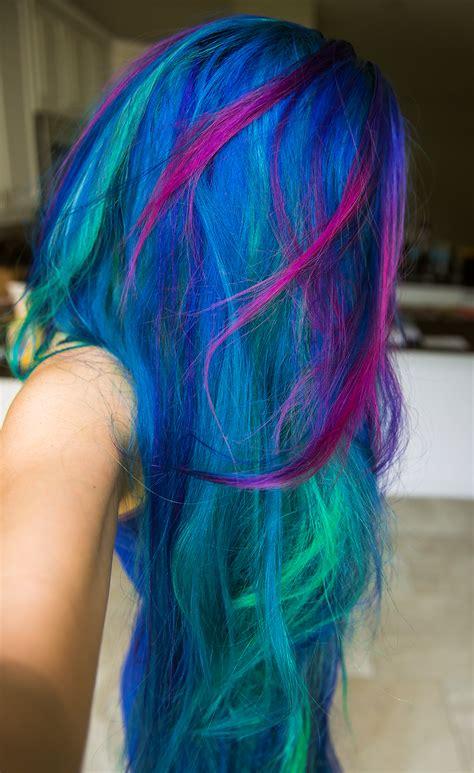 Rainbow Hair And Multi Colored Hair Manic Panic Dye Hard