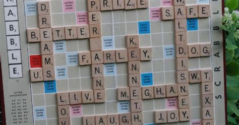glue scrabble letters to board using words that