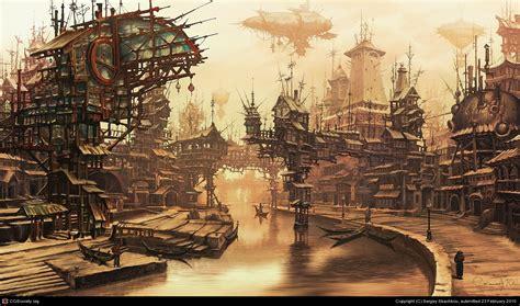 true steampunk cityscape photo collection