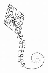 Kite Coloring Printable Flying Drawing Kites Getdrawings Chinese Getcolorings Colorin Expert sketch template