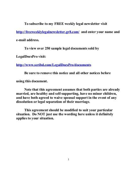 post nuptial agreement template sle california postnuptial agreement