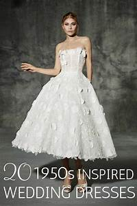 20 chic 1950s inspired wedding dresses chic vintage brides With 1950s inspired wedding dresses