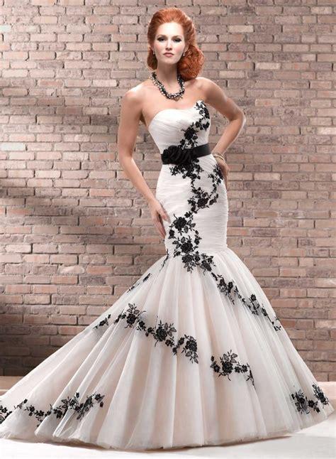 black and white wedding dress ideas dresscab