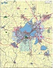 Editable Madison, WI City Map with Roads & Highways ...